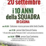 Celebrazione 10 anni della squadra di Protezione Civile di Casina