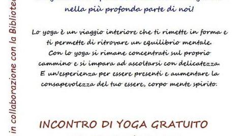 Incontro di Yoga gratuito