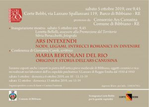 Ars intexendi. Maria Bertolani Del Rio