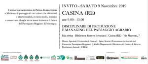 Scuola del Paesaggio del Parmigiano Reggiano_9 novembre 2019