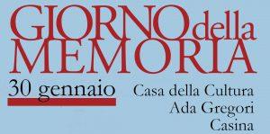 Anche Casina celebra il Giorno della Memoria