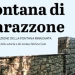 Inaugurazione della fontana di Barazzone restaurata